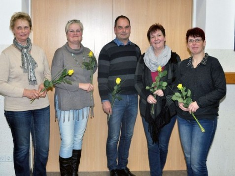 Von Links nach Rechts: Kerstin Hirsch, Anke Wachtel, Toralf Noack, Cornelia Gnauck, Ivana Hofmann